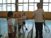 Открытая тренировка в школе тенниса